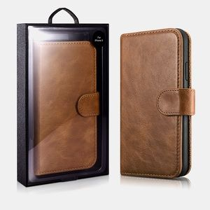 Accessories - Brand New iPhone X Genuine Leather Wallet Case